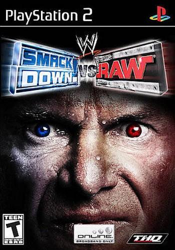 wwe smackdown vs raw cover Burnout Paradise, Final Fantasy X, jogo, jogos, Onimusha 3, playstation, Pro Evolution Soccer 6, PS2, WWE Smackdown VS Raw