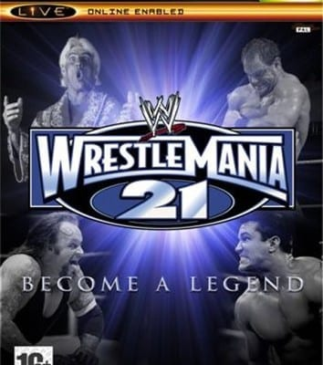 Xbox Wrestlemania 21 Cover