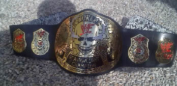 WWF Smoking Skull Title Belt