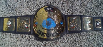 WWF Winged Eagle Black Strap Scratched Logo Title Belt