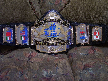 WWF Andre 87 On Black Strap Title Belt