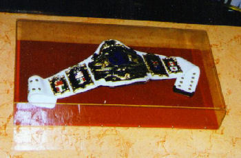 WWF Andre 87 On White Strap Title Belt On Display At Planet Hollywood