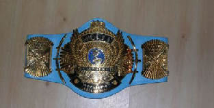 WWF Winged Eagle Blue Strap Title Belt
