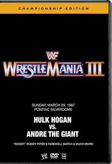 Wwe Wrestlemania 3 Championship Edition Dvd Cover