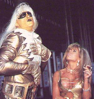 Goldust With The WWF Reggie IC Gold Strap Intercontinental Title Belt
