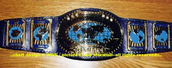 WWF 1998 J-Mar Purple Strap Intercontinental Title Belt