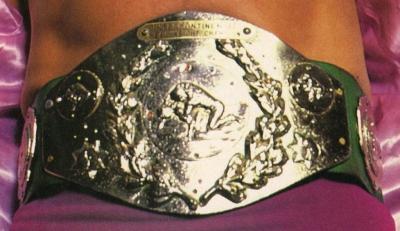 WWF Intercontinental Green Strap Title Belt