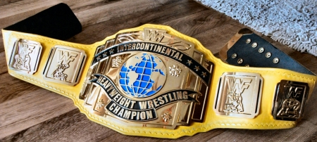 WWF Reggie IC Yellow Strap Intercontinental Title Belt
