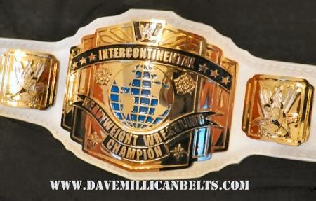 WWE Reggie Park's White Strap Intercontinental Belt With Scratch Logo