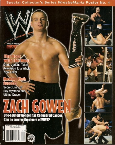 Zach Gowen on the cover of WWE Magazine