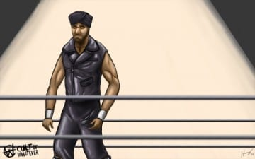 Jinder Mahal Cartoon Illustration