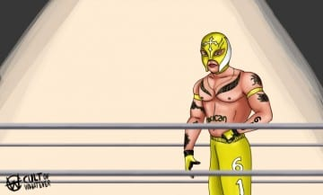 Rey Mysterio Cartoon Illustration