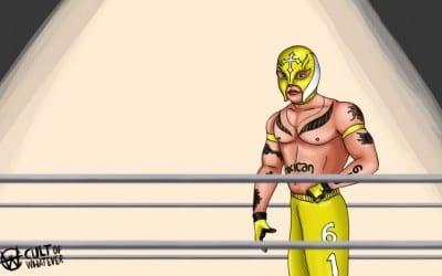 Rey Mysterio Cartoon Illustration