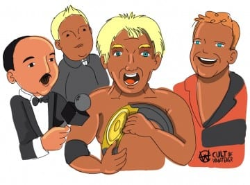 WWE Royal Rumble 1992 Ric Flair Cartoon Illustration