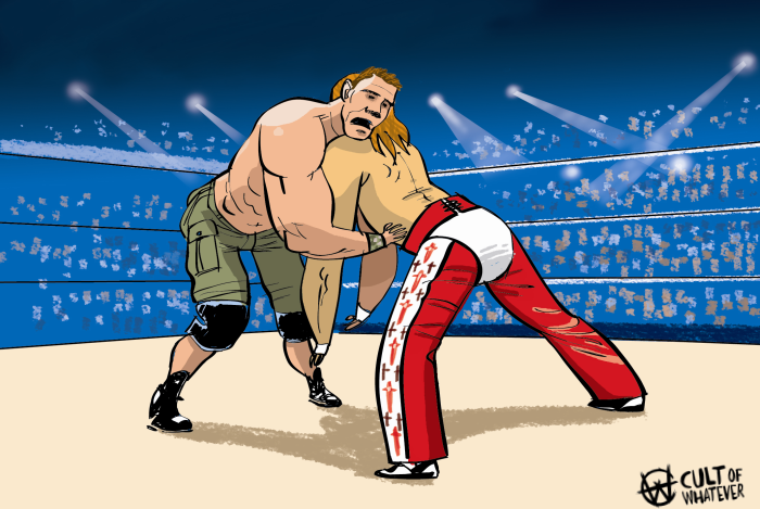 cow-wrestlemania-23-john-cena-shawn-michaels