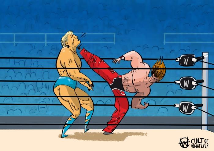 Cow Wrestlemania 24 Ric Flair Shawn Michaels