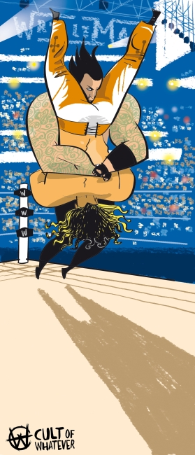 Cow Wrestlemania 25 The Undertaker Shawn Michaels