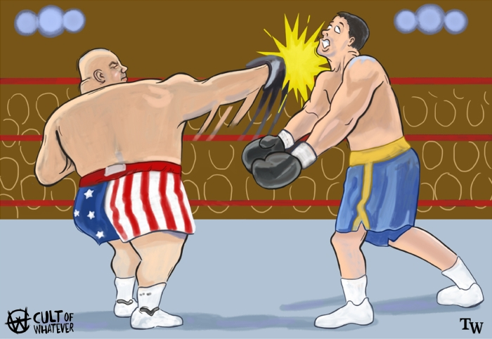 cow-wrestlemania-15-brawl-for-all-butterbean-bart-gunn