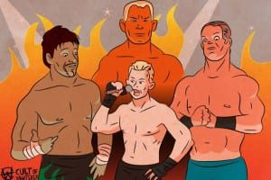 WWE Royal Rumble 2005 Puder Benoit Holly Guerrero Cartoon Illustration