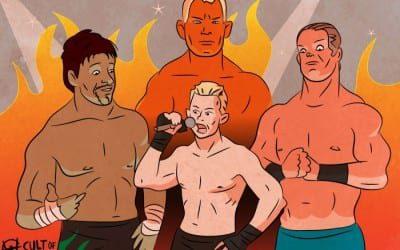 WWE Royal Rumble 2005 Puder Benoit Holly Guerrero Cartoon Illustration