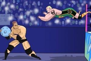 WrestleMania 24 JBL Finlay Cartoon Illustration