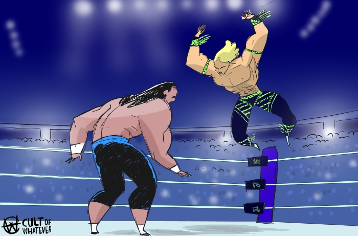 cow-wrestlemania-6-haku-shawn-michaels