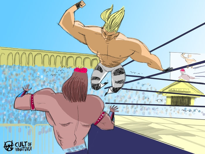 cow-wrestlemania-9-shawn-michaels-tatanka
