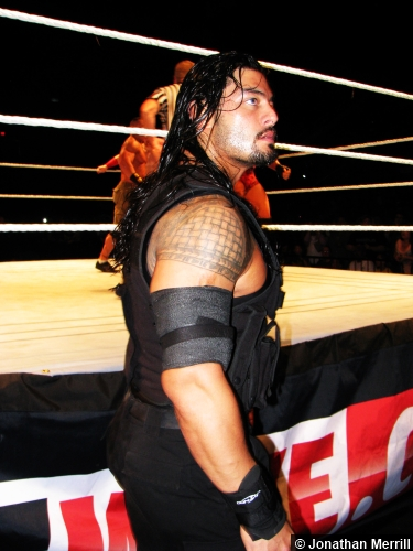 Wwe The Shield Roman Reigns Ringside 120513