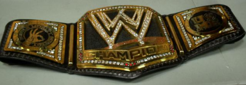 WWE Big Logo Title Belt With John Cena Side Plates