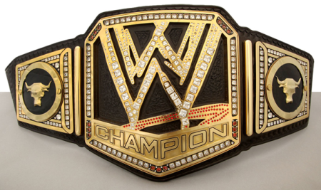 WWE Big Logo Title Belt With The Rock Side Plates