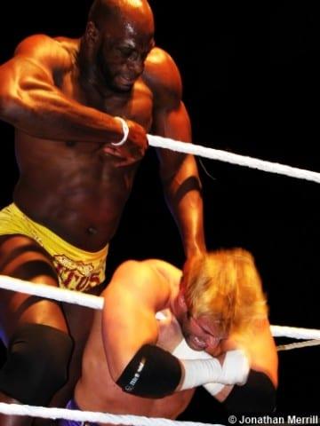 Wwe Titus Oneil Zack Ryder Ropes Choke