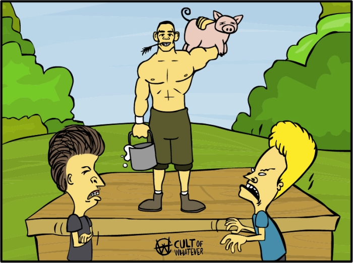 Cow John Cena Bevis Butthead