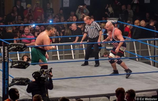 TNA UK Samoa Joe Kurt Angle