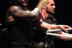 Wwe 25012014 Shield Roman Reigns Seth Rollins Smile