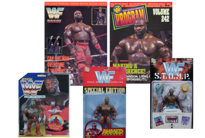 Ahmed Johnson Figures and Magazine Covers
