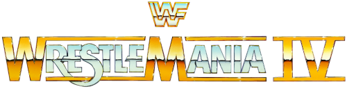 Wrestlemania 4 Logo
