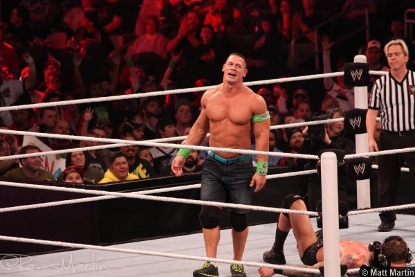 Wwe Royal Rumble 2014 John Cena Smile Randy Orton