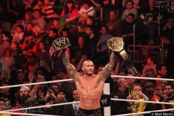 Wwe Royal Rumble 2014 Randy Orton Wwe World Title Belts 2
