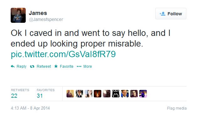 James Tweet 3
