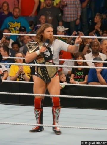 Wwe 07042014 Daniel Bryan Title Belts Mic