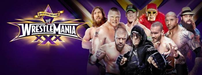 Wwe Wrestlemania Xxx Poster 1a