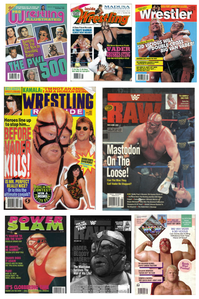 Vader Magazine Covers