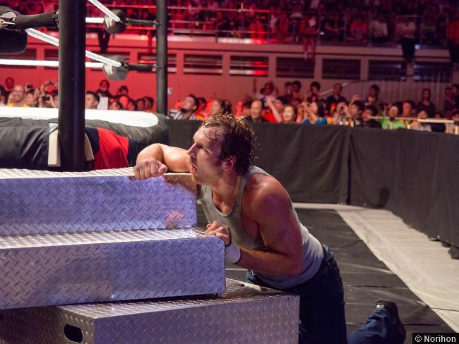 Wwe 072014 Dean Ambrose Steel Steps