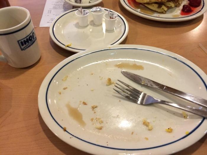 Empty Ihop Plate