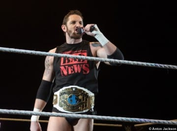 100115 Wade Barrett Intercontinental Title Belt Mic