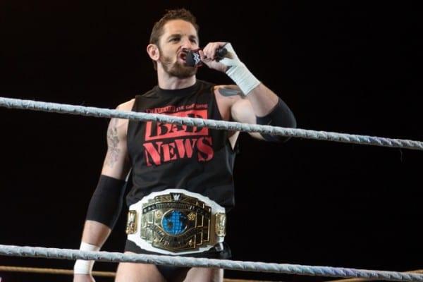 100115 Wade Barrett Intercontinental Title Belt Mic