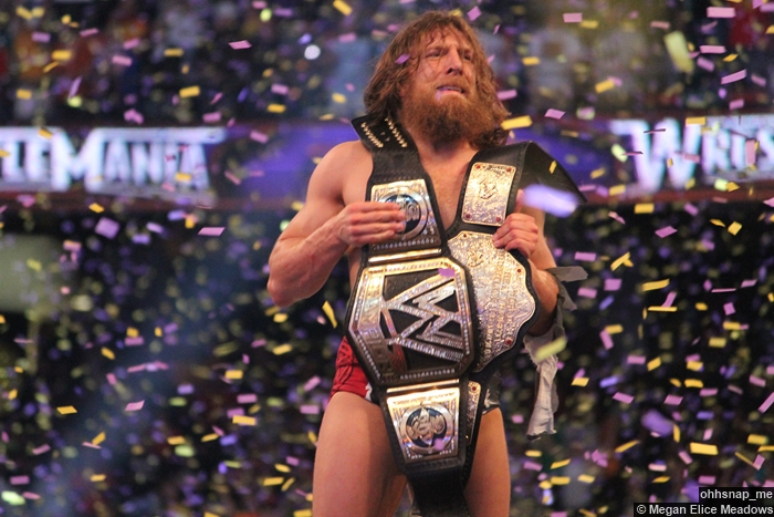 Daniel Bryan Celebrates World Title Belt 2 Wrestlemania 30