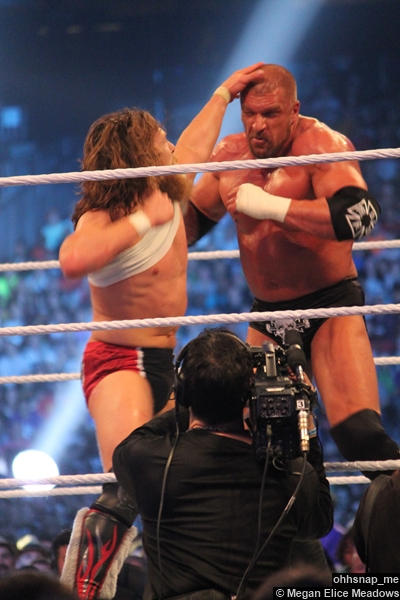 Daniel Bryan Punch Triple H Wrestlemania 30