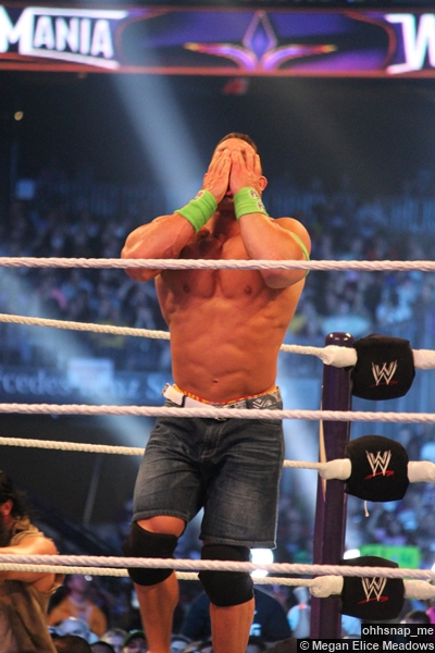 John Cena Hands Face Wrestlemania 30