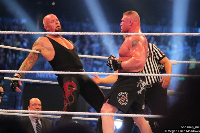 Paul Heyman Undertaker Brock Lesnar Wrestlemania 30
